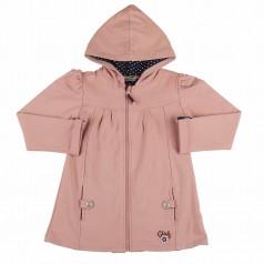 Кофта детская розовая с капюшоном на молнии