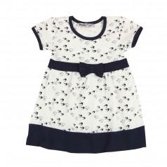 Платье детское белое с птичками