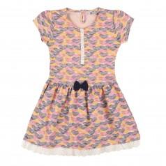 Wanex Платье детское в сердечках разноцветное