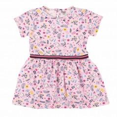Wanex Платье летнее детское розовое с мелки рисунком