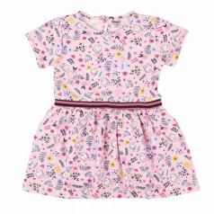 Wanex Платье летнее детское розовое с мелким рисунком