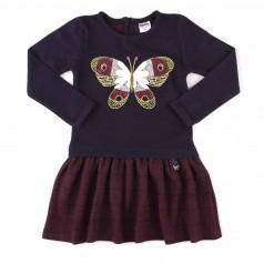 Wanex Платье детское с длинным рукавом теплое с бабочкой