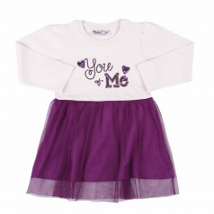 Wanex Платье детское с длинным рукавом фатиновая фиолетовая юбка