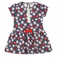 Wanex Платье детское с сердечками и цветами