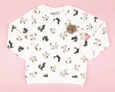 Wanex Свитшот детский белый с лисичками