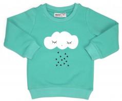 Wanex Свитшот детский тёплый голубой с облаком