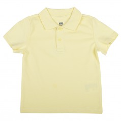 Футболка-поло детская для мальчика жёлтая