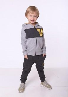 Wanex Спортивный костюм детский олимпийка светло-серая и темно-серые спортивные штаны
