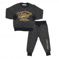 Спортивный костюм детский черный свитшот и спортивные штаны
