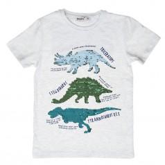 Wanex Футболка детская серая с пайетками-перевёртышами в виде динозавров