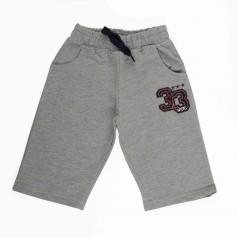 Детские шорты для мальчиков серые с карманами