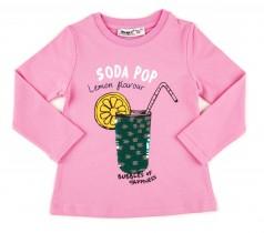 Wanex Футболка с длинный рукавом розовый с пайетками-перевертышами