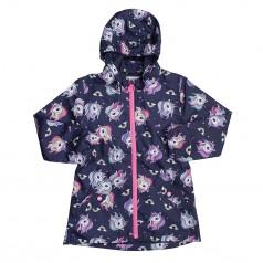 H&M Ветровка для девочки синяя с единорогами