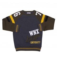 "Wanex Свитшот для мальчика ""WNX"" тёмно-серый с начёсом"