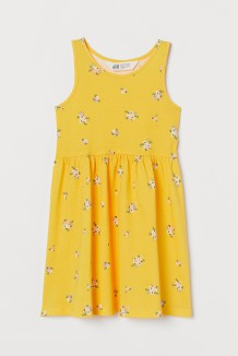 H&M Сарафан для девочки темно-желтый с цветами