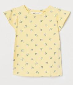 H&M Футболка для девочки желтая в цветах