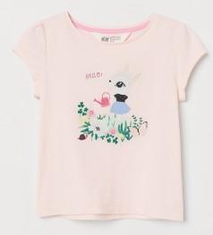H&M Футболка для девочки розовая