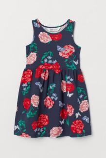 Сарафан для девочки синее с цветами