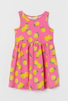 Сарафан для девочки розовый с лимонами