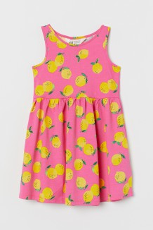 H&M Сарафан для девочки розовый с лимонами