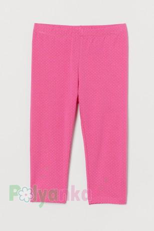 H&M Капри для девочки розовые в горох - Картинка 1