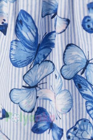 H&M Сарафан детский голубой в бабочках - Картинка 2