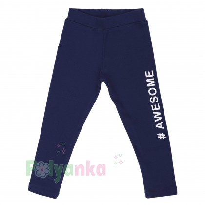 Wanex Леггинсы для девочки синие теплые - Картинка 1