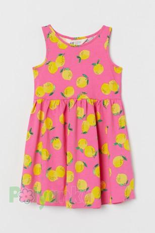 H&M Сарафан детский розовый с лимонами - Картинка 1