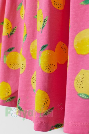 H&M Сарафан детский розовый с лимонами - Картинка 2