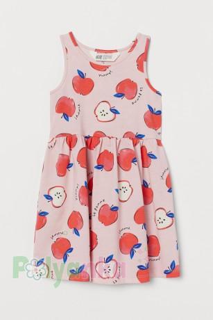 H&M Сарафан детский розовый с яблоками - Картинка 1