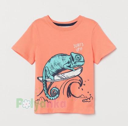 H&M Футболка для мальчика с хамелеоном - Картинка 1