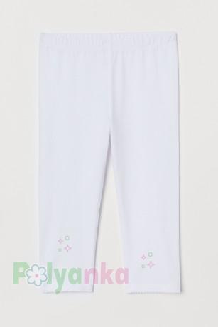 H&M Капри для девочки белые - Картинка 1