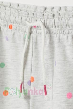 H&M Шорты для девочки серые в горох - Картинка 2