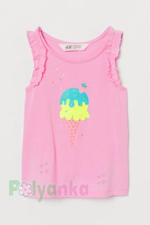 H&M Майка для девочки розовая с мороженным - Картинка 1