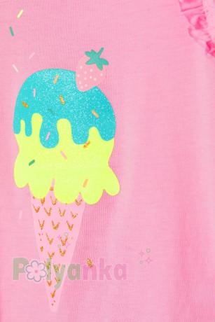 H&M Майка для девочки розовая с мороженным - Картинка 2