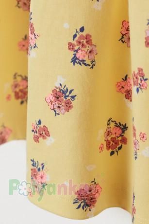 H&M Сарафан для девочки желтый с цветами - Картинка 2