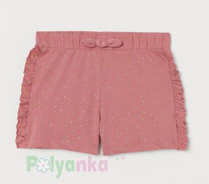 H&M Шорты для девочки темно-розовые - Картинка 1