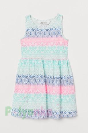 H&M Сарафан для девочки белый с узорами - Картинка 1