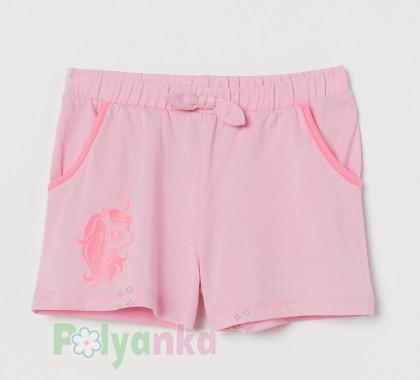 H&M Шорты для девочки розовые - Картинка 1