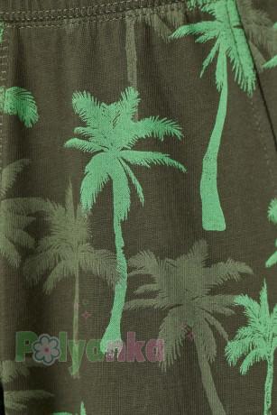 H&M Шорты детские темно зелёные с пальмами - Картинка 2