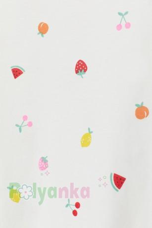 H&M Футболка детская белая с ягодами - Картинка 2