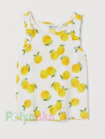 H&M Майка белая с лимонами - Картинка 1