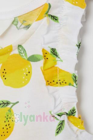 H&M Майка белая с лимонами - Картинка 2