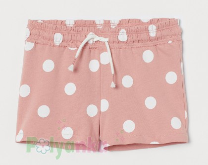 H&M Шорты для девочки в горох розовые - Картинка 1