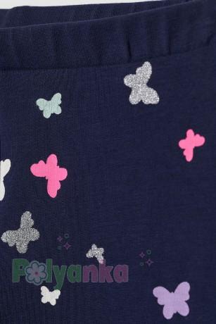 H&M Капри для девочки синие с бабочками - Картинка 2