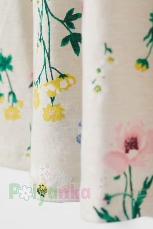 H&M Сарафан для девочки бежевый с растительным принтом - Картинка 2