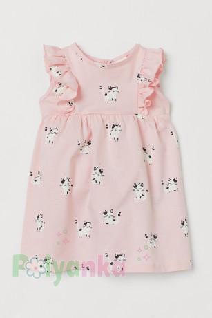 H&M Летнее платье для малышки розовое с кошечками - Картинка 1