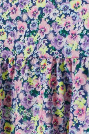 H&M Сарафан для девочки синий с цветами - Картинка 2