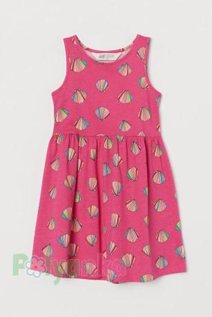 H&M Сарафан для девочки розовый с ракушками - Картинка 1
