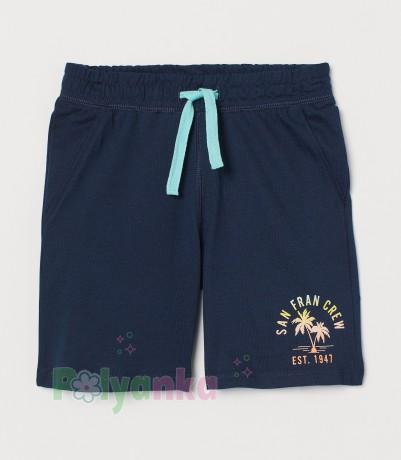 H&M Шорты для мальчика синие с пальмой - Картинка 1